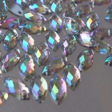 100pcs X 5*10mm Horse Eye AB Crystal Acrylic Flatback Rhinestones DIY Sew-on