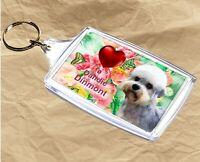 Dandie Dinmont Keyring  Dog Key Ring Dandie Dog Gift Xmas Gift Mothers Day Gift