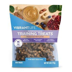 Vibrant Life Superfood Training Treats Peanut Butter Flavor Dog Treats 1-9oz