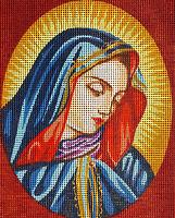 "Needlepoint tapestry painted canvas - Maddona (10""x12"") Gobelin 07.70"