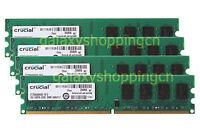 Crucial 8 GB 4X 2GB 2 G PC2-6400 DDR2-800MHz 240PIN DIMM Desktop RAM Memory CL6
