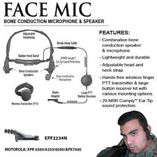 Tactical Ear Gadgets FACE MIC Bone Conduction Headset for Motorola APX XPR