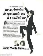 PUBLICITE ADVERTISING 105  1970  RADIO MONTE-CARLO ANTOINE M. FOURNIER J. BERGEN
