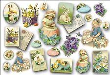Papier de riz DFS156 Pâques vintage Rice Decoupage Paper Easter Serviette