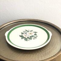 Vintage retro floral ceramic serving platter plate