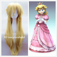 Super Mario Brothers Princess Mary Peach Princess Peach blonde cosplay Wig
