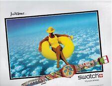 1990  SWATCH Ravenna WATCH :  French  Magazine PRINT AD