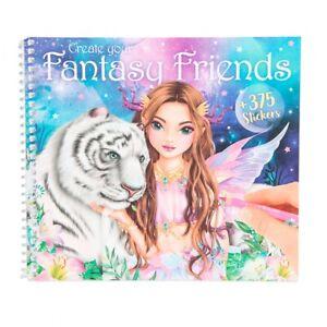 Create your Fantasy Friend TOPModel Malbuch Malheft Sticker Stickerheft Buch NEU