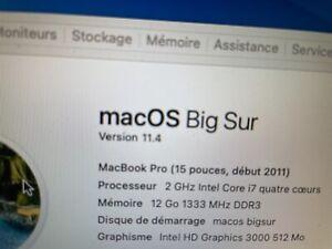 """Carte mère MacBook Pro 15"""" (2011) A1286 - I7 2,GHz / 820-2915-A /"""