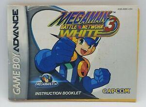 Megaman Battle Network 3 White (Nintendo Game Boy Advance, 2001) OEM GBA BOOKLET