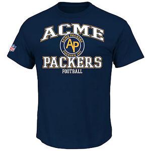 NFL T-Shirt Green Bay Packers Acme Vintage Throwback Logo Shirt Navy Football