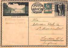 BP47 1930 Svizzera Cancelleria Card * BRIENZ BERNA VIGNETTA * Usato Zurigo