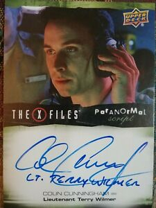 Colin Cunningham Inscription Autograph Card Terry Wilmer X Files Ufos And Aliens