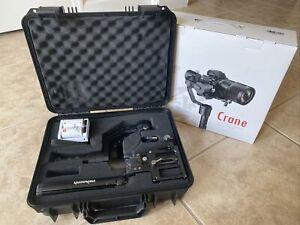 Zhiyun Crane V2 3-Axis Handheld Gimbal DSLR Stabilizer + PERGEAR STAND & GRIP!