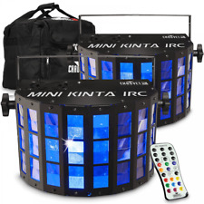 More details for 2 x chauvet kinta irc dj dmx rgbw led lighting effect inc bag and irc6 remote