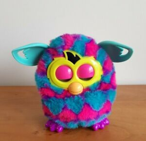 Furby Boom Pink and Blue Hearts Interactive Talking Pet Hasbro 2012 - Works