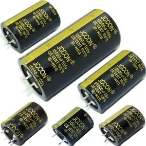 100uF to 47000uF Snap-in Aluminium Electrolytic Capacitors 25V to 450V 105°C