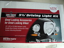 """VICTORY CROSS COUNTRY, TOURING, MAGNUM  CHROME 3 1/2"""" DRIVING LIGHT KIT  LED"""