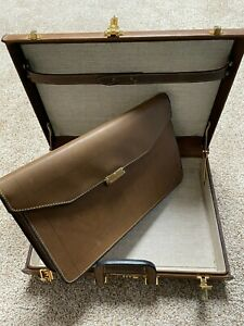 Atlas Leather briefcase with detachable portfolio RARE & RETRO