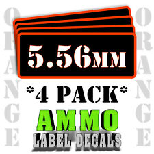 "5.56mm Ammo Label Decals for Ammunition Case 3"" x 1"" Can stickers 4 PACK -OR"