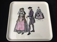 "Villeroy & Boch Square Tray, Made In Luxembourg, 10 1/2"" x 10 1/2"" x 1"" High"