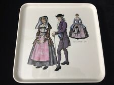 """Villeroy & Boch Square Tray, Made In Luxembourg, 10 1/2"""" x 10 1/2"""" x 1"""" High"""