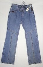 c0e58178 New Vintage Fubu Fatty Girl Lace Front Rear Zip Jeans Stretch 818186HJ Sz  9/10