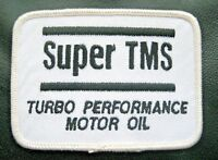 TURBO PERFORMANCE MOTOR OIL SEW ON PATCH SUPER TMS GAS ADVERTISING 3 1/2~2 1/2