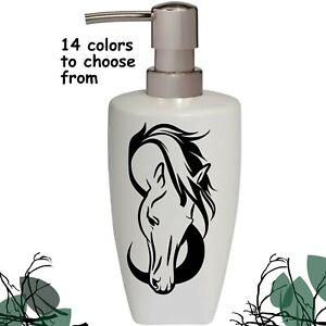 Horse Head Soap Lotion Pump dispenser Bathroom Kitchen Soap Dispenser Horse Gift