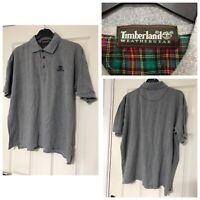 timberland weathergear Grey Polo Neck T Shirt Short Sleeve Size XXL (B 447)