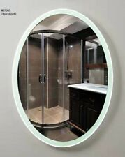Modern Stylish Oval Shape Bathroom Mirror LED Light Switch Wall Hung 740x540x40
