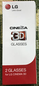 BOXED PAIR OF AUTHENTIC LG AG-F310 PASSIVE 3D CINEMA GLASSES