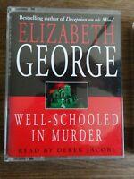 Elizabeth George Well - schooled in murder   2 cassette audio book