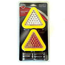39 LED Yellow Triangle Emergency Light - 3 Modes/2 Colors - Magnet & Hanging ...