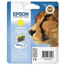 Genuine Epson T0714 Yellow Ink Cartridge for DX4000/DX4050