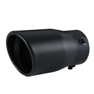Car Exhaust Tip Muffler Pipe Black Coating Stainless Steel Fit 2 - 2.75 inch ⌀