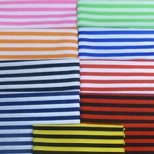 Polycotton Fabric Stripe 12mm Candy Stripes
