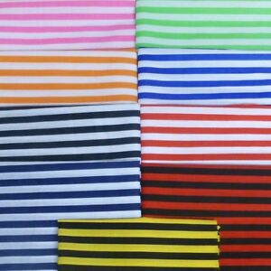 Polycotton Fabric Stripe 12mm Candy Stripes Striped Stripe Lines