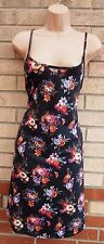 NEW LOOK STRAPPY BLACK ORANGE BROWN FLORAL SMOCK FLIPPY A LINE TUNIC DRESS XL