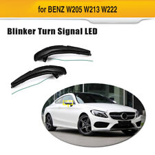 Yellow Mirror Sequential Smoked Side Turn Signal Lights For Benz W205 W213 W222