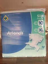 14 Attends Slip Regular 10 Incontinence Pad Adult Nappy Diaper - XL pack of 14
