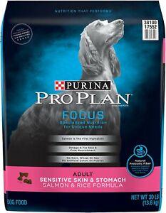 Purina Pro Plan Adult Sensitive Skin & Stomach Salmon & Rice Formula 30-lb bag