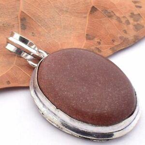 RED  SUN STONE  Silver Plated Handmade Gemstones Pendants CCC1504