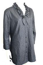 Lockre Sitzende 3/4 Arme Damenblusen,-Tops & -Shirts ohne Kragen für Business