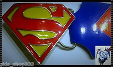 "Classic SUPERMAN LOGO Belt Buckle  red yellow blue Full metal 3""x2.5"" triangle"