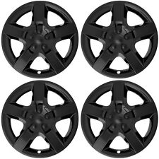 "4PC Hub Caps Fits SATURN AURA, CHEVY MALIBU, PONTIAC G6 17"" BLACK Wheel Covers"