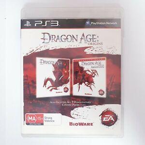 Dragon Age Origins & Awakening - Sony Playstation 3 PS3 - Free Postage + Manual