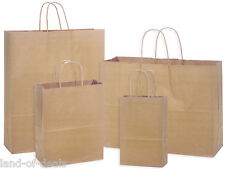 125 Natural Brown Kraft paper shopping bags assortment high quality wholesale