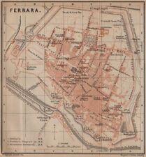 FERRARA ANTICA CITTA 'CITY Pianoforte piano urbanistico. ITALIA MAPPA 1899 VECCHIO