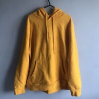 Forever 21 Men's Orange Hoodie - Size Large - 'Too Fresh Too Clean'